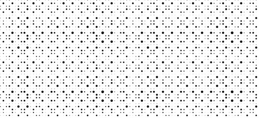 Abstract dots seamless pattern. Black white polka dots texture. Circle pattern. Abstract geometric ornament vector background. Template for presentation, business cards, Design elements for fabric