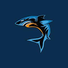 shark vector illustration mascot logo