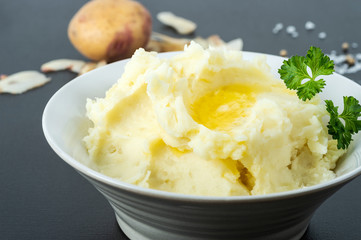 Organic Potatoes Mashed with Butter, Milk and Sea Salt