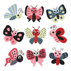 butterfly collection vector design