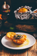 Pattypan squash stuffed with minced meat