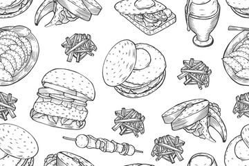 Gourmet Burgers and ingredients for burgers