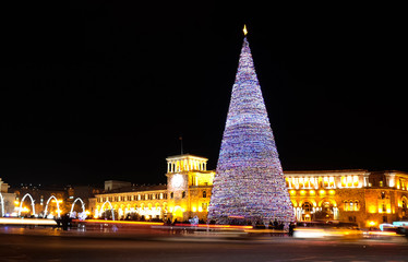 New Year tree on the Yerevan Republic square