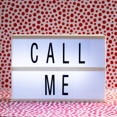 Lightbox with Powerful, Inspirational and Motivational Two Word Quote, Call Me