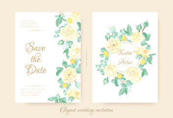 Romantic Invitation for Wedding Celebration.