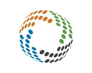 Abstract globe dot tech