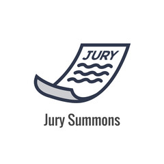 Law and Legal Icon Set with Judge, Jury, and Judicial icons