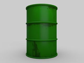 green barrels 3d rendering