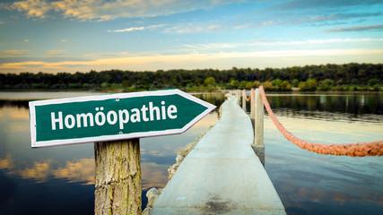 Fototapete - Schild 381 - Homöopathie