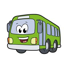 Cute smiling bus