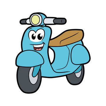 Cute smiling scooter