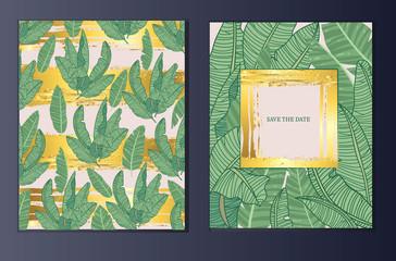 Leaves pattern, summer print, vector illustration