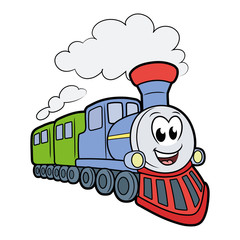 Cute smiling train