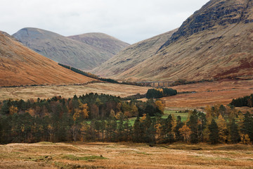 Ranoch Moor Panoramic View in Scottish Highlands