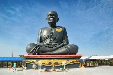 Take photo the great image of big buddha as Luang Pho To at wat Prasuren ,Samwa,Bangkok