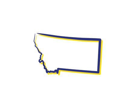 Montana Outline Logo Icon 001