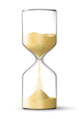 Realistic hourglass clock