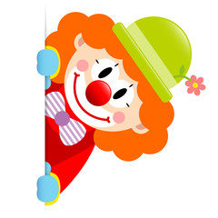 Orange Hair Clown Vertical Banner