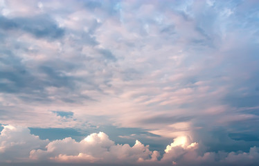 Background dramatic sky .