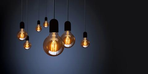 light bulbs isolated