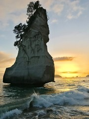 Foto auf Gartenposter Cathedral Cove Cathedral Cove, Sunrise