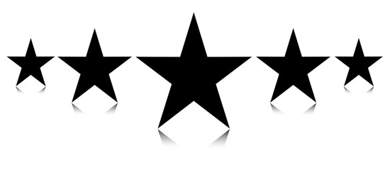 Star favorite icon or symbol favourity star for premium design with reflextion