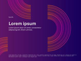 Modern minimal abstract background wallpaper. Circular motion light composition Landing page, poster, blank, design, presentation slide, flyer, poster, commercial, web, layout, magazine, journal.