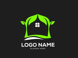 Nature Logo Designs Vector, Green House Logo Template