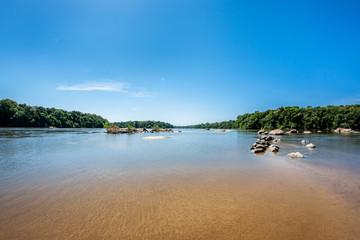 Panorama vom Essequibo Fluss in Guyana Südamerika, Teil des Amazonas Gebietes