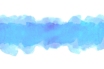 blue strip watercolor background.