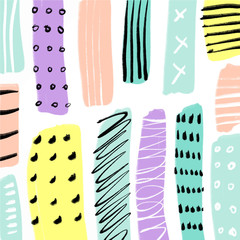 Abstract scandinavian style pattern, geometric shapes. Vector illustration.
