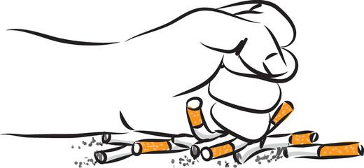 quitting smoking vector illustration