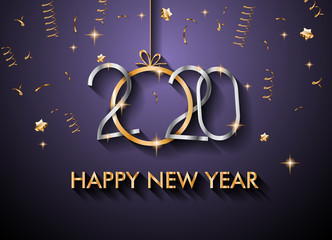2020 Happy New Year Background for your Seasonal Flyers and Greetings Card or Christmas