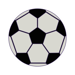 soccer sport ball isolated blue lines