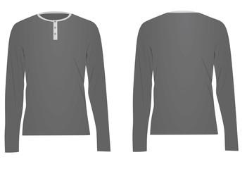 adbb615c625d Grey long sleeved t shirt. vector illustration