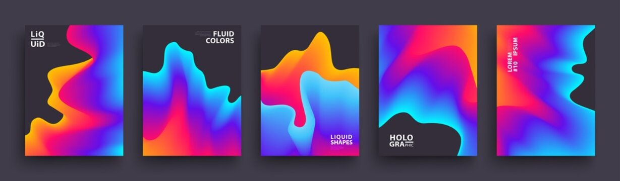 Set of Abstract Gradient Wavys. Modern Covers Template Design for Presentation, Magazines, Flyers, Social Media Templates. Vector EPS 10