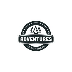 Mountain illustration, outdoor adventure . Vector graphic for t shirt and other uses. vintage landscape with mountain peaks end graphic elements.