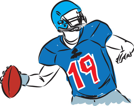 FOOTBALL PLAYER VECTOR ILLUSTRATION