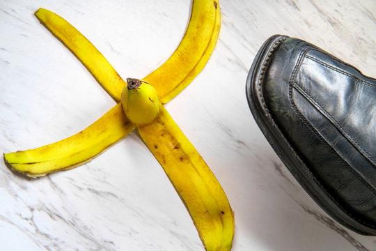 Banana Peel Slipping Shoe