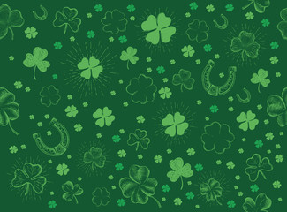 St. Patrick's Day set. Hand drawn illustrations Wall mural
