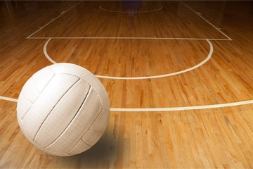 Volleyball object ,close up on background