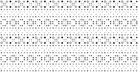 Abstract geometric seamless pattern. Black white polka dots texture. Circle pattern. Abstract geometric ornament vector background. Template for presentation business cards, Design elements for fabric