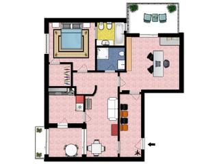 Color floor plans