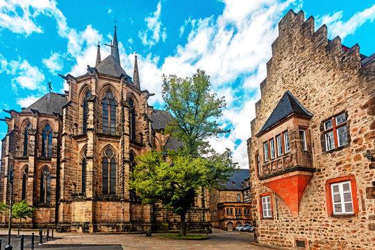 Marburg, Elisabethkirche.  St. Elizabeth church in  Marburg