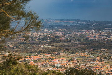 A fantastic view is from the mountain in Sicily. Catania