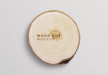 Wood Slice Mockup