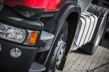 Modern Semi Truck Closeup