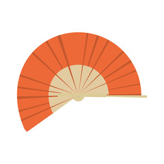Isolated asian hand fan image. Vector illustration design