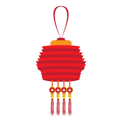 Isolated chinese lamp image. Vector illustration design