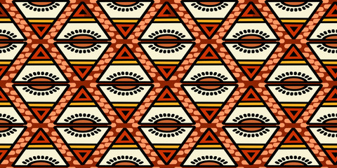 handmade tribal texture seamless pattern vector with primitive stripes cool design background, Striped abstract illustration ready for fashion textile print with african, indian, bohemian style.